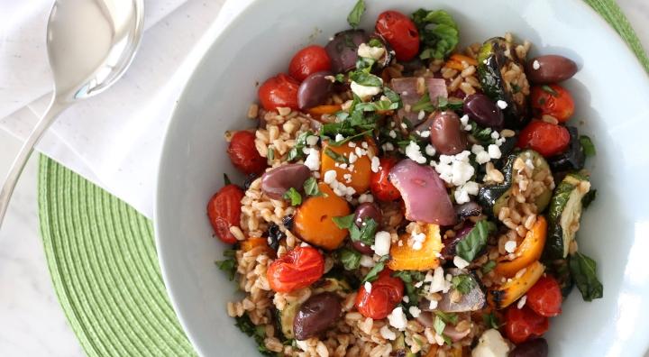 Farro Grilled GreekSalad